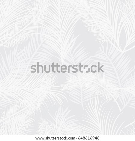 seamless subtle gray palm tree leaves stock vector royalty free