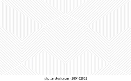 Seamless subtle gray vintage trilateral op art lines pattern vector