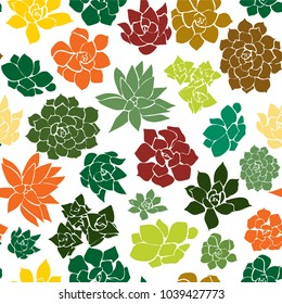 Seamless Succulent earth tones Pattern