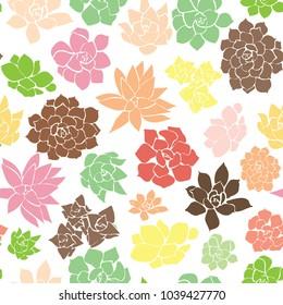 Seamless Succulent Pattern