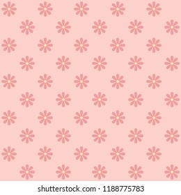 Seamless sun Flowers pattern vector.  Design pink on light pink. Design print for textile, wallpaper, background. Set 4
