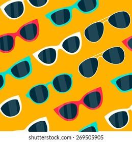 seamless sunglasses pattern - Illustration