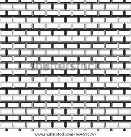 Seamless Surface Pattern Design Blocks Bricks Stock Vector Royalty