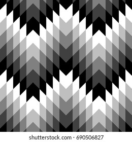 Seamless surface pattern design with interlocking polygons ornamentation. Color parallelogram and hexagons tessellation background. Checkered wallpaper. Mosaic motif. Ethnic ornament. Digital paper.