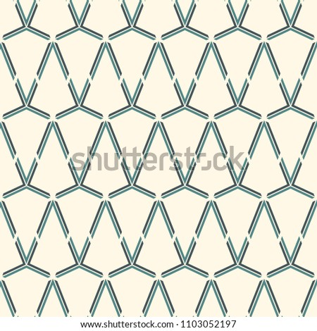 Seamless Surface Pattern With Interlocking Triangles Tessellation Triangular Grid Structure Abstract Wallpaper Linear Motif