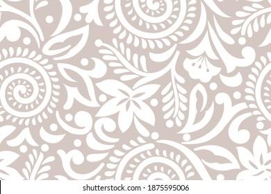 Seamless swirly floral pattern design