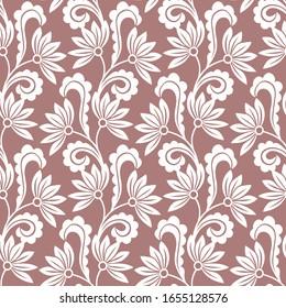 Seamless swirly leaves pattern design