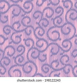 Seamless Swirly Loops Ikat Background Pattern