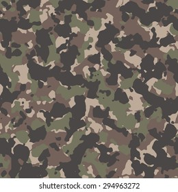 Seamless tan woodland classic camouflage textile pattern vector
