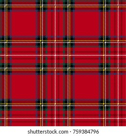 Seamless tartan background, plaid vector pattern. Christmas, new year decor.