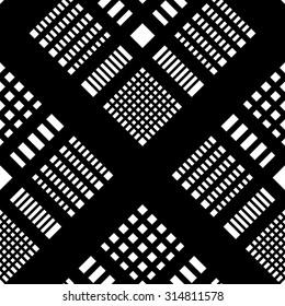Seamless Tartan Pattern. Vector Black and Transparent Background