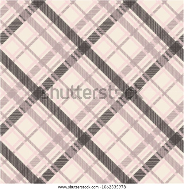 Seamless tartan plaid pattern in brown and pink tone.