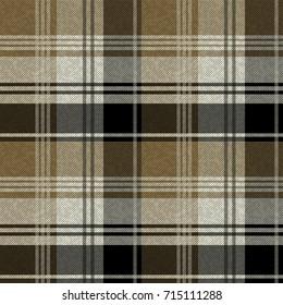 Seamless tartan plaid pattern. Khaki Plaid pattern.