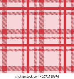 Seamless tartan plaid pattern in pink and red tone.