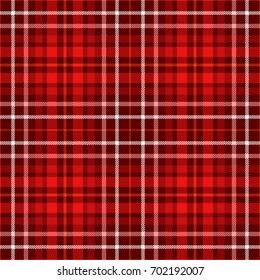 Seamless tartan plaid pattern in shades of red, pink and white. Traditional checker background for digital textile printing.