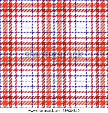 Seamless tartan plaid vector pattern. Twill texture in stripes of dark red 4247d7f27
