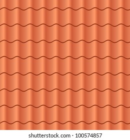 Seamless terracota roof tile - pattern for continuous replicate.