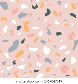 Seamless terrazzo repeat pattern. Easy to edit vector file.