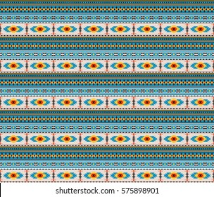 Seamless texture, American Indians tribal style. Swatch is included in vector file.