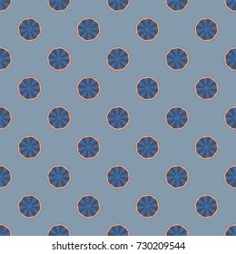 Seamless texture with colored circle pattern for background.