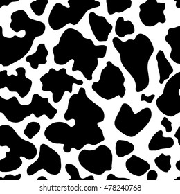 Seamless texture of cow hide. Wallpaper skin of cattle. Vector cow skin.