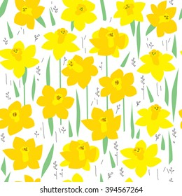 seamless texture daffodil