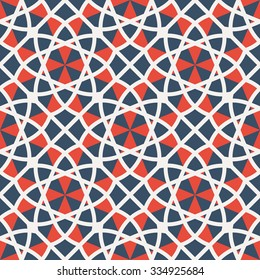 Seamless texture with geometric ornament. Vector pattern