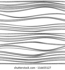 Seamless texture with horizontal waves. Vector background.