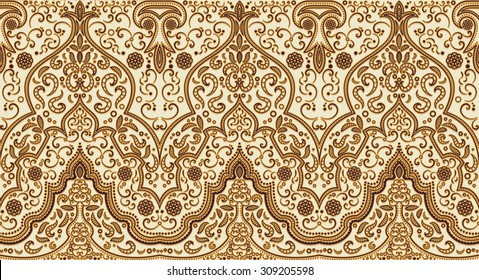 Seamless texture with luxury arabic ornament. Vector vintage pattern