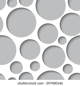 Seamless texture - paper cut circles. Background for web, banner, cards, e-mail etc.