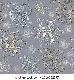 Seamless texture (pattern) in floral style. Suitable for design: cloth, web, wallpaper, packaging, wrapping. Vector illustration.