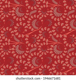 Seamless texture, pattern on a square background - flowers and leaves. Styling. Background for a website or blog, wallpaper, textiles, packaging.