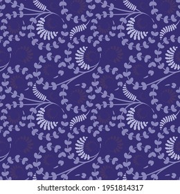 Seamless texture, pattern on a square background - flowers and leaves. Styling.