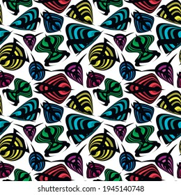 Seamless texture, pattern on a white square background - fish. Styling, graphics. Abstraction. Background for a site or blog, wallpaper, textiles. Packaging.