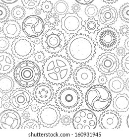 Seamless texture with pinions. Abstract vector illustration.