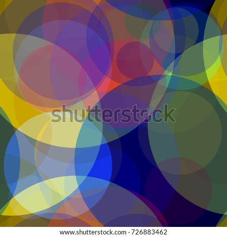 Seamless Texture Transparent Colored Circles Abstract Stock Vector