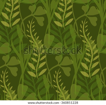 Seamless Texture Transparent Plants Herbs Your Stock Vector