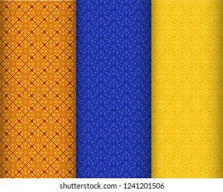 Seamless Thai silk texture with pattern, vector