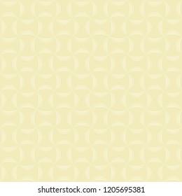 Seamless three line arc pattern vector. Design woven light cream on cream background. Design print for textile, wallpaper, background. Set 5