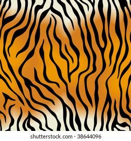 Seamless tiger skin