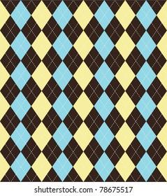 Seamless tiled argyle patterned background
