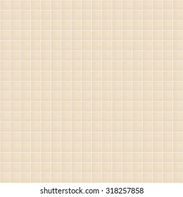 Seamless tiled wallpaper. Abstract beige tiling geometric texture. Light color mosaic square tile background. vector art image illustration pattern for swimming pool, spa, kitchen or bathroom wall