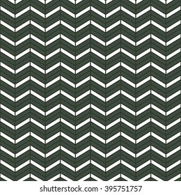 Seamless timber green interchanging chevrons pattern vector
