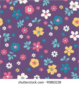 seamless Tiny floral pattern on grunge background wallpaper