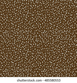 Seamless topping pattern on chocolate background