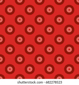 Seamless Traditional African Fabric Pattern (German print) in Botswana, Lesotho, South Africa