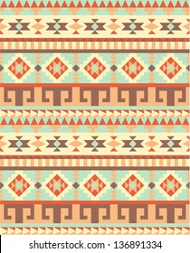 Seamless traditional aztec pattern