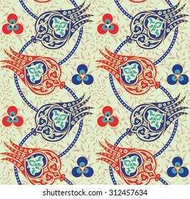 Seamless Traditional Turkish Ottoman Floral Pattern