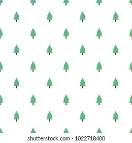 seamless tree pattern background
