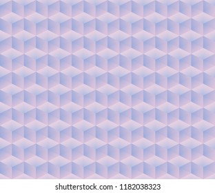 Seamless trendy modern color isometric cubes pattern. Vector illustration.